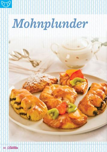 Backanleitung - Mohnplunder - Das große Backen 05/2019