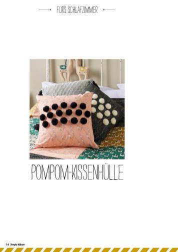 Nähanleitung - Pompom-Kissenhülle - Simply Nähen - 05/2019