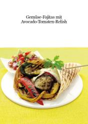 Rezept - Gemüse-Fajitas mit Avocado-Tomaten-Relish - Healthy Vegan 05/2019