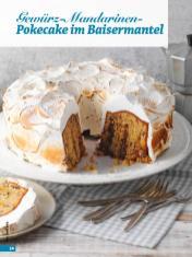 Rezept - Gewürz-Mandarinen-Pokecake im Baisermantel - Simply Backen - 04/2019