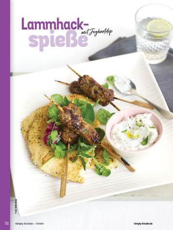 Rezept - Lammhack-Spiesse mit Joghurtdip - Simply Kochen Orientalisch - 05/2019