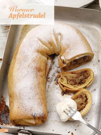 Rezept - Warmer Apfelstrudel - Simply Backen Sonderheft Kuchen Äpfel + Pflaumen