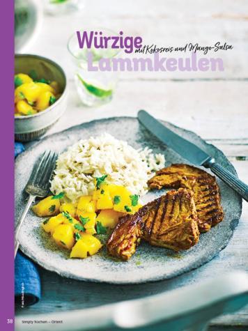 Rezept - Würzige Lammkeulen mit Kokosreis und Mango-Salsa - Simply Kochen Orientalisch - 05/2019