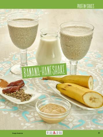 Rezept - Banana-Hanf-Shake - Clean Food mit Andrea Sokol von Ohlala & Solala