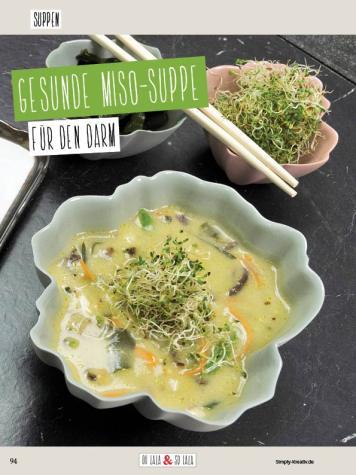 Rezept - Gesunde Miso-Suppe - Clean Food mit Andrea Sokol von Ohlala & Solala