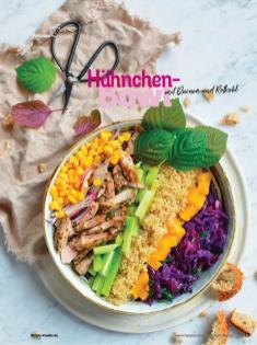 Rezept - Hähnchen-Bowl mit Quinoa und Rotkohl - Simply Kochen Sonderheft Bowls