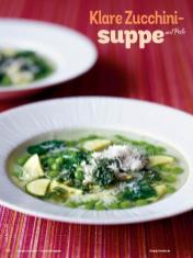 Rezept - Klare Zucchinisuppe mit Pesto - Simply Kochen Sonderheft Sommer-Suppen