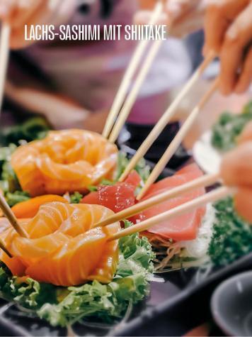 Rezept - Lachs-Sashimi mit Shiitake - Bewusst Lowcarb Sonderheft - 02/2019