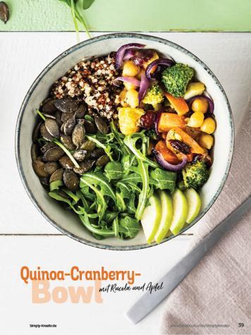 Rezept - Quinoa-Cranberry-Bowl mit Rucola und Apfel - Simply Kochen Sonderheft Bowls
