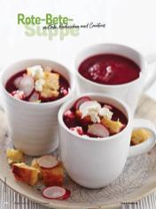Rezept - Rote-Bete-Suppe mit Feta, Radieschen und Croûtons - Simply Kochen Sonderheft Sommer-Suppen