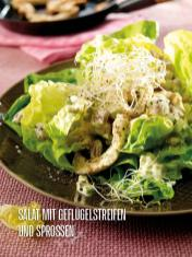 Rezept - Salat mit Geflügelstreifen und Sprossen - Bewusst Lowcarb Sonderheft - 02/2019