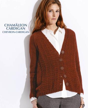 Strickanleitung - Chamäleon Cardigan - Chevron-Cardigan - Designer Knitting - 05/2019