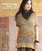 Strickanleitung - Farbschema Bunt - Tunika mit V-Ausschnitt - Designer Knitting - 05/2019