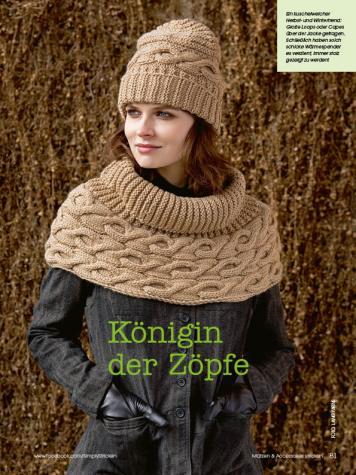 Strickanleitung - Königin der Zöpfe - Simply Stricken Mützenspecial - Mützen und Accessoires stricken - 01/2019