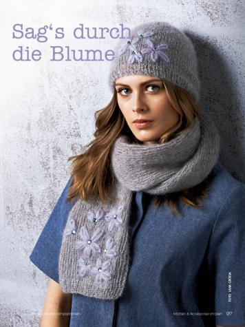 Strickanleitung - Sag's durch die Blume - Simply Stricken Mützenspecial - Mützen und Accessoires stricken - 01/2019