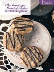 Rezept - Buchweizen-Mandel-Taler mit Schokoglasur - Simply Kreativ Glutenfrei Weihnachtsbacken – 01/2019