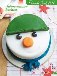 Rezept - Schneemannkuchen - Simply Backen Special Weihnachtskuchen