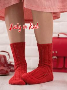 Strickanleitung - Lady in Red - Simply Kreativ – Best of Simply Stricken Socken