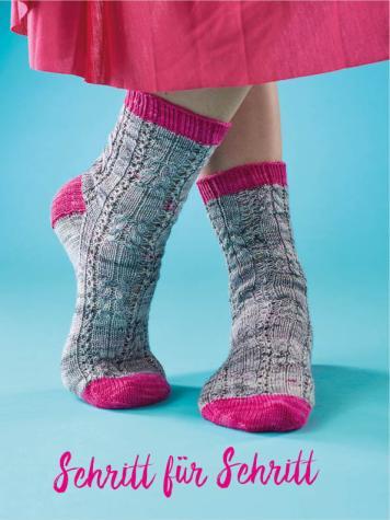 Strickanleitung - Schritt für Schritt - Simply Kreativ – Best of Simply Stricken Socken