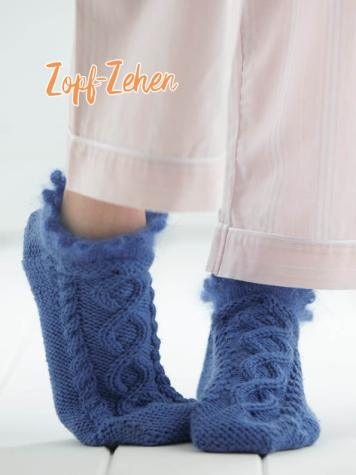 Strickanleitung - Zopf-Zehen - Simply Kreativ – Best of Simply Stricken Socken