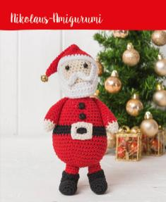 Häkelanleitung - Nikolaus-Amigurumi - Mini Häkeln Weihnachts-Ideen Vol. 11