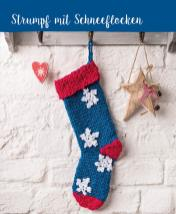 Häkelanleitung - Strumpf mit Schneeflocken - Mini Häkeln Weihnachts-Ideen Vol. 11