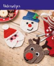 Häkelanleitung - Untersetzer - Mini Häkeln Weihnachts-Ideen Vol. 11
