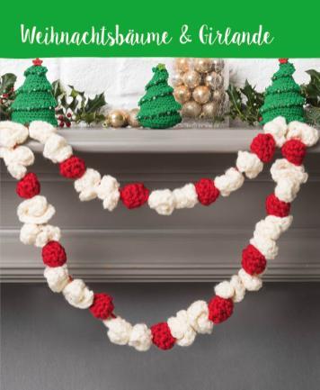 Häkelanleitung - Weihnachtsbäume & Girlande - Mini Häkeln Weihnachts-Ideen Vol. 11