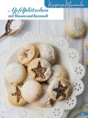 Rezept - Apfelplätzchen mit Nüssen und Karamell - Weihnachtsbäckerei 01/2019