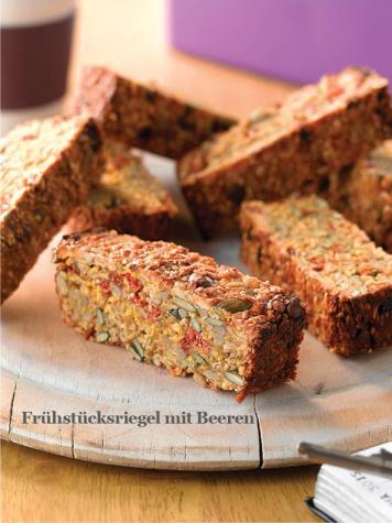 Rezept - Frühstücksriegel mit Beeren - Healthy Vegan Sonderheft - Vegan Jahrbuch