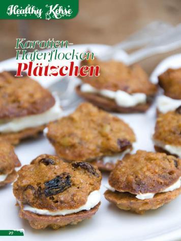 Rezept - Karotten-Haferflocken-Plätzchen - Simply Backen Sonderheft Weihnachtsbacken mit Janet & Jasmin 01/2019