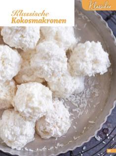 Rezept - Klassische Kokosmakronen - Weihnachtsbäckerei 01/2019