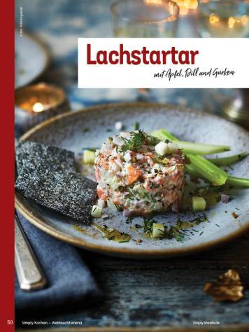 Rezept - Lachstartar mit Apfel, Dill und Gurken - Simply Kochen Weihnachts-Menü – 05/2019
