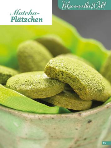 Rezept - Matcha-Plätzchen - Weihnachtsbäckerei 01/2019