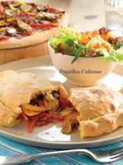 Rezept - Paprika-Calzone - Healthy Vegan Sonderheft - Vegan Jahrbuch