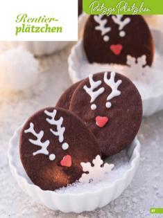 Rezept - Rentierplätzchen - Weihnachtsbäckerei 01/2019