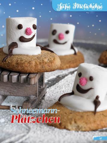 Rezept - Schneemann-Plätzchen - Simply Backen Sonderheft Weihnachtsbacken mit Janet & Jasmin 01/2019