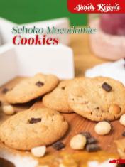 Rezept - Schoko-Macadamia-Cookies - Simply Backen Sonderheft Weihnachtsbacken mit Janet & Jasmin 01/2019