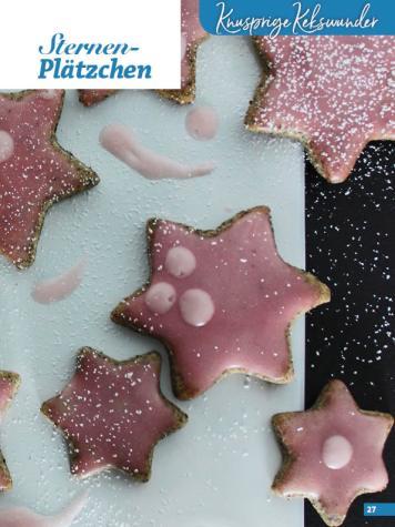 Rezept - Sternen-Plätzchen - Weihnachtsbäckerei 01/2019