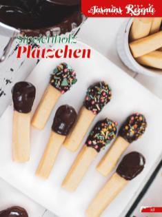 Rezept - Streichholz-Plätzchen - Simply Backen Sonderheft Weihnachtsbacken mit Janet & Jasmin 01/2019