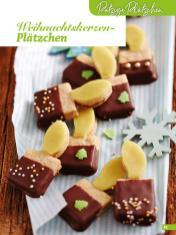 Rezept - Weihnachtskerzen-Plätzchen - Weihnachtsbäckerei 01/2019