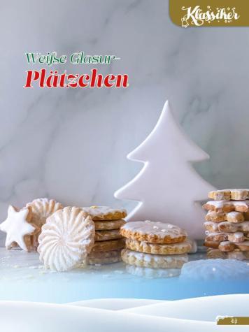 Rezept - Weiße Glasur-Plätzchen - Simply Backen Sonderheft Weihnachtsbacken mit Janet & Jasmin 01/2019