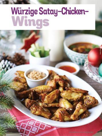 Rezept - Würzige Satay-Chicken-Wings - Simply Kochen Weihnachts-Menü – 05/2019
