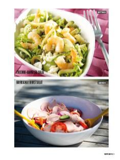 Rezept - Zucchini-Garnelen-Salat & Bayrischer Wurstsalat - Bewusst Low Carb Sonderheft: 4 Kilo in 30 Tagen - 01/2020