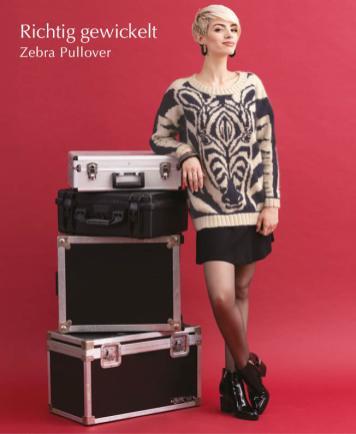 Strickanleitung - Richtig gewickelt - Zebra-Pullover - Designer Knitting 06/2019