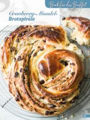 Rezept - Cranberry-Mandel-Brotspirale - Simply Backen Fingerfood – 05/2019