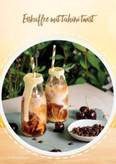 Rezept - Eiskaffee mit Tahini-Twist - Vegan Food & Living – 01/2020