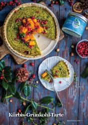 Rezept - Kürbis-Grünkohl-Tarte - Vegan Food & Living – 01/2020