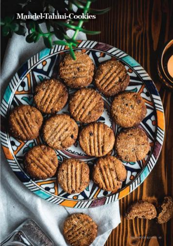 Rezept - Mandel-Tahini-Cookies - Vegan Food & Living – 01/2020