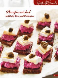 Rezept - Pumpernickel mit Roter-Bete und Weichkäse - Simply Backen Fingerfood – 05/2019